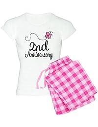 CafePress - 2Nd Anniversary Gift Butterfly Women's Light Pajam - Womens Novelty Cotton Pajama Set, Comfortable PJ Sleepwear