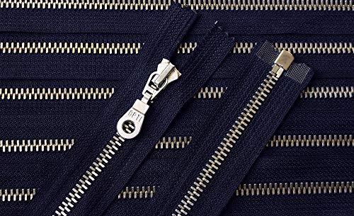 Reißverschluß Metall teilbar für Jacken 72 cm dunkel blau/Marine / Navy Silber