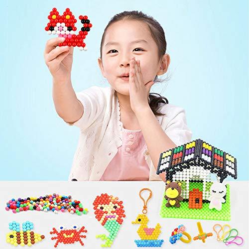 7efa10258741 ... Aquabeads Abalorios Cuentas de Agua 3600 Perlas 24 Colors Hama Beads para  Niños ...