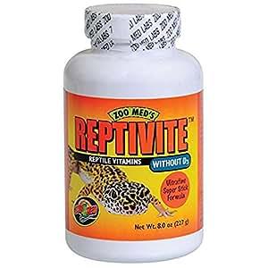 Zoomed Reptivite sans D3 Supplément pour Reptile/Amphibien 227 g