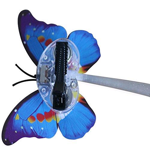 Mamum neuer LED Perücken leuchtende Taschenlampe Haar Braid Clip Haarnadel Weihnachten Geburtstag Spielzeug (Zufall)