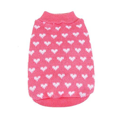 Moresave Haustier Stricken Rollkragen Pullover Kleidung Warme Sweater Kleine Hund Mantel (Rollkragen Pullover Stricken)