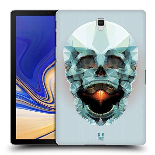 Head Case Designs Platin Schädel Anatomie Polygon Harte Rueckseiten Huelle kompatibel mit Samsung Galaxy Tab S4 10.5 (2018) - Platin 10.5