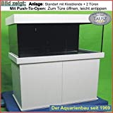 TAB Würfel Aquarium Kombination 50x60x60 cm/ 180 L. / Gl. 10mm / 2x15 Watt T8