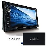 Tristan Auron BT2D7013B Autoradio mit GPS Navi + DAB Box, 6,5'' Touchscreen Bildschirm, Mirror-Link, Bluetooth Freisprecheinrichtung, USB I SD, CD I DVD, DAB+ Lenkradsteuerung Rückfahrkamera 2 Din