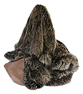 Brown Mammoth Longhaired Faux Fur Throw (180 x 140 cm) by Faux Fur Throws