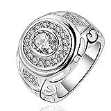 Anillo de plata 925con Circonita Grande lknspcr573–7