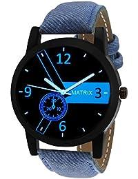 Matrix Analog Black Dial,Leather Strap Watch for Men/Boys- (WCH-192-BL)