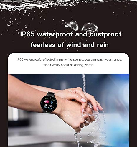 Minoni Smartwatch, Fitness Pulsera Reloj Completo Touch Screen Fitness Reloj IP68 estanco Fitness Tracker Sportuhr con podómetro Pulsuhren cronómetro para señoras señores Smart Watch (Rojo) 4