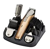 Multifuncional Electric Hair Trimmer Grooming Kit Nariz Oído Barba y bigotes Cortadores Shaver Razor Traje cortador de pelo recargable (11 in 1)