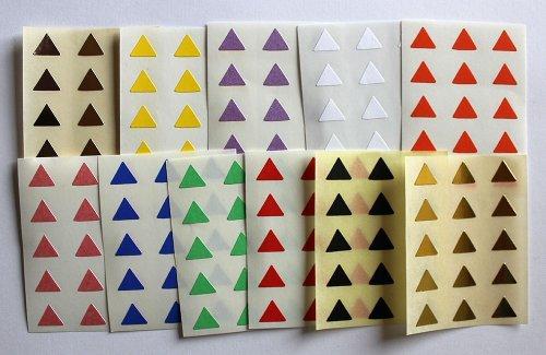 Variado colores. 165 Etiquetas, 10mm Forma Del Triángulo, Pegatinas Autoadhesivas, Minilabel Formas