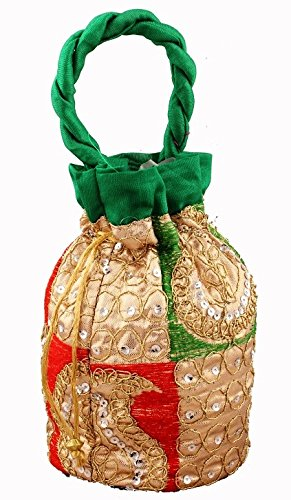 Bombay Haat Ethnic Potli Bag / Clutch / Bridal Clutch / Pouch  available at amazon for Rs.169