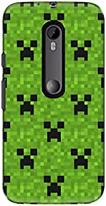 The Racoon Lean printed designer hard back mobile phone case cover for Motorola Moto G 3rd Gen. (Green Crea)