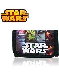 SW16389 Set cartera + reloj pulsera digital correa goma infantil mot.STAR WARS