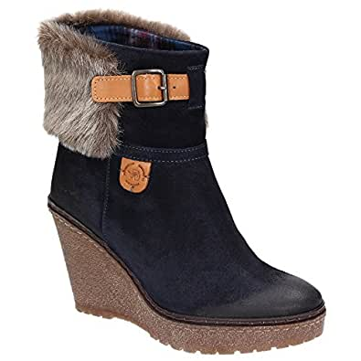 napapijri hydromette mid boot wedge 0575310 069 courroie bottines d 39 hiver pour femme doublure. Black Bedroom Furniture Sets. Home Design Ideas