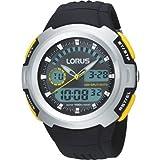 Lorus Herrenuhr Digital Quartz Kunststoff Schwarz R2323DX9