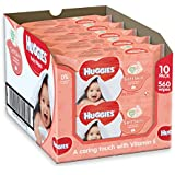 Huggies Soft Skin Baby Wipes - 10 Packs (56 Wipes Per Pack, 560 Wipes Total)