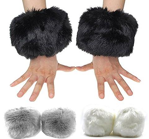 Santwo Damen Armwärmer Gr. Einheitsgröße, model 1(black,grey,white) (Glove Dark Shadow)