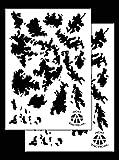 Acid Tactical® 2pezzi–23x 35cm singolo design camouflage Airbrush stencil per vernice spray–Duracoat Gun (TAC camo)