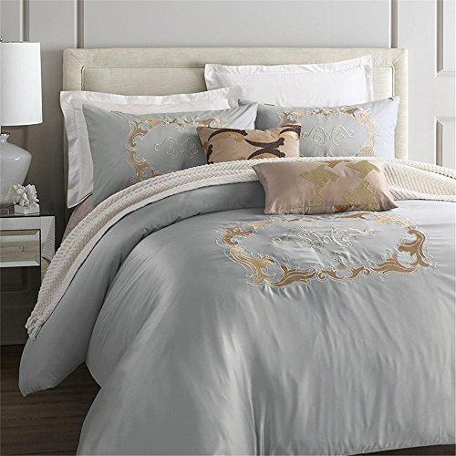 4 Stück Baumwolle imitiert Seide Luxus Bettwäsche-Set einfarbig Prise Falte Bett Set Queen-Bett Bettwäsche Bettdecke Bett Deckblatt , angel wings