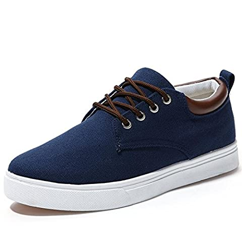 Jeansian Homme Casual Sneakers Basses Espadrilles Chaussures Men Fashion Shoes SHB004 Blue 9 US