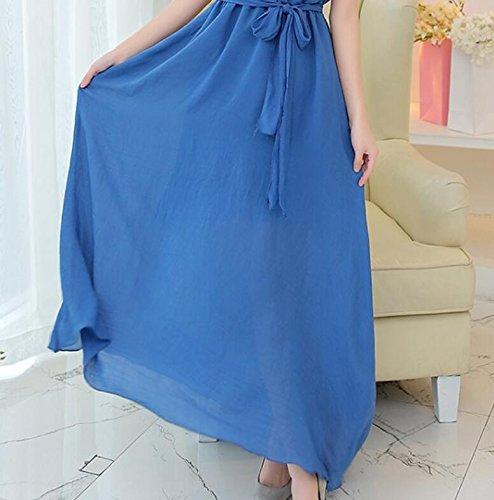 DESY Sommer-Mutterschaftskleid, atmungsaktives Leinenkleid, großes Temperamentkleid + Halskette, schwangeres Frauenrock Sommer , treasures blue , m (Rock Blue Anzug)