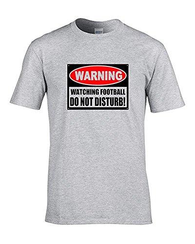 Fußball ACHTUNG, nicht disturb- Jokey Supporter Herren T-Shirt von Fat Kuckuck Grau - Grau