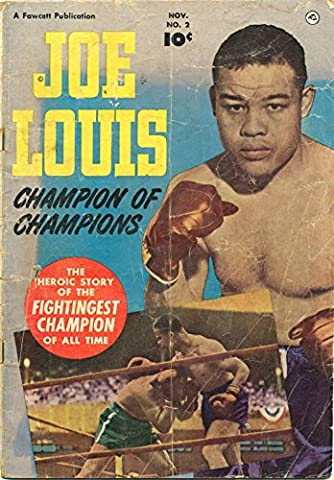 POSTER comics cover Fawcett Joe Louis 2 Vintage Wall Art Print A3 replica