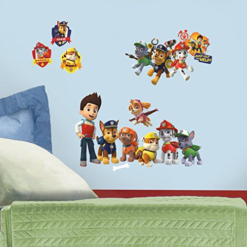 Preisvergleich Produktbild RoomMates RMK2640SCS Paw Patrol Peel and Stick Wall Decals