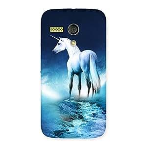 Impressive Unicorn Horse Print Back Case Cover for Moto G