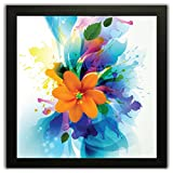 #7: Printelligent Framed Floral Wall Paintings With Frame Size (12 Inch X 12 Inch, (Wood, 30 Cm X 3 Cm X 30 Cm, Special Effect Textured)