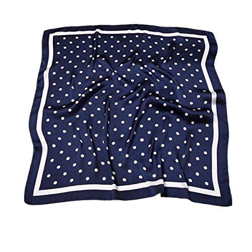 HIDOUYAL Grande Foulard Carré Polyester Mélangé Carreaux Polka Dots 70 * 70cm (polka dots 4)