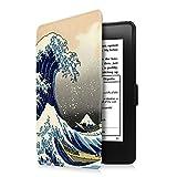 Fintie Étui pour Kindle Paperwhite - étui Flip Super Fin et léger, Fermeture magnétique avec Mise en Veille automatiquement (Non Compatible avec Le 10ème génération, modèle 2018), Rough Sea