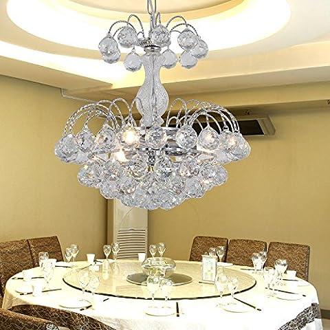 Lámparas de cristal simple y elegante de 3 dormitorios araña de cristal araña de cristal araña de cristal de la sala de estar moderno