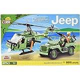 COBI - Jeep Willys MB, set con helicóptero, color verde (24254)