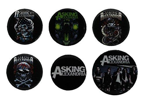 Asking Alexandria Graphics-Confezione di spille