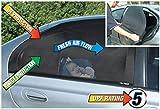 Auto Seitenfenster Sonnenschutz (2 Pack) Schutz für Baby vor Sonne, Blendung UV-Strahlen & Hitze – Sonnenblende für Kinder ist sicher für Fahrer. Überlegendes selbsthaftendes Netz, saugt sich dank statischer Aufladung fest für Hitzeschutz (Schwarz)