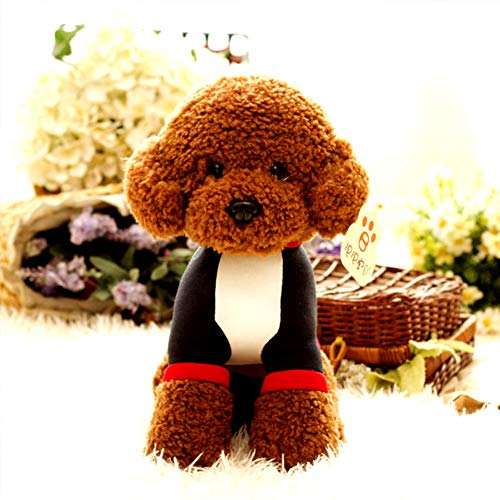 Toy Dog Pet Plush Child for Lovely Simulation Teddy Plush Puppy Soft Doll Toys,Brownish