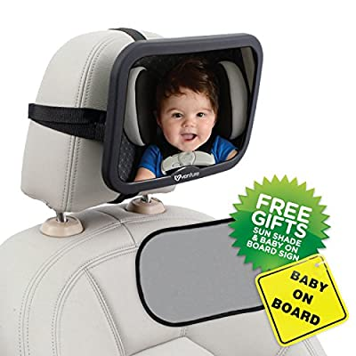 **INTRODUCTORY OFFER ** ActiVue Baby Car Mirror | Watch Your Child Safely Whilst Rear Facing | Easy Install Dual Strap Fastening | Fully Adjustable Tilt And Turn With Anti-Judder Mount | Superior Reflection And 100% shatterproof | Premium Quality Safety P