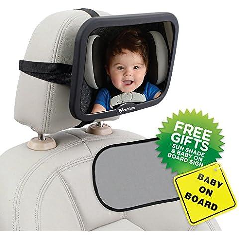 Empresa activa bebé Premium calidad espejo del coche, bebé a bordo de signo y UV Sun Shade