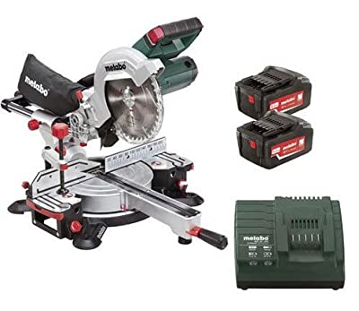 Metabo KGS 18 LTX 216 18V 216mm Cordless Mitre Saw with 2 x 6.2Ah Batteries (UK619001811)