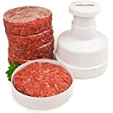 Andrew James Hamburger Maker / Beefburger Press + 100 Wax Discs - Includes 2 Year Warranty - Ideal For Summer BBQ's - Comes Apart For Easy Cleaning