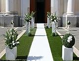 fp-tech fp-tp Teppich für Hochzeit, Weiß
