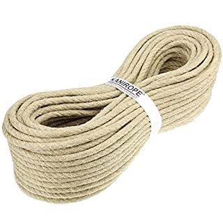 Hemp Rope 6mm 50m 3-strand twisted Grade