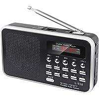 Music 60 Empfangsstarkes Radio im modernen Design (Black)