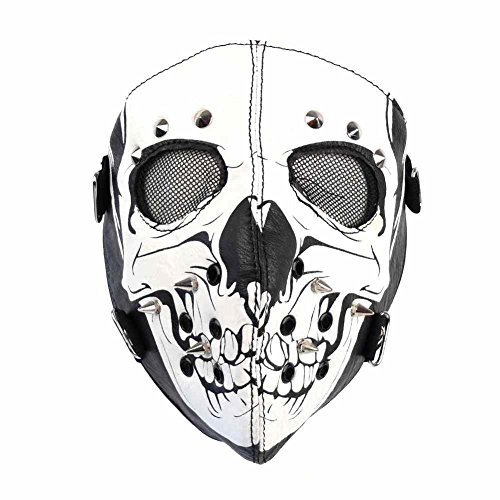 Windmaske Totenkopf Maske Kunstledermaske Sturmmaske Steampunk Tarnmaske Skimaske 87357 (87357-9003-0000)
