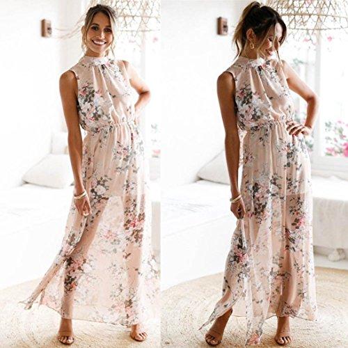 info for b4e4c f2e0f HOMEBABY® Chiffon Floreale Abiti Lunghi Donna Eleganti ...