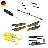 Ersatzteile-Set Crash-Kit von Syma für Apache S109G, RC ferngesteuerter Hubschrauber, Modellbau, Helikopter, Neu
