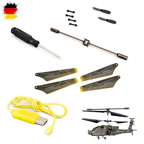 Ersatzteile-Set Conclusion-Kit von Syma für Apache S109G, RC ferngesteuerter Hubschrauber, Modellbau, Helikopter, Neu
