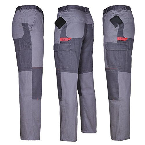 Pantaloni Da Lavoro Multifunzionale Pantaloni 100% Cotone 270g Qualità - grigio, 50.0